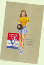 WWII vintage bowling playing card