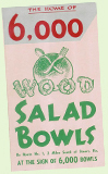 6000 Wood Salad Bowls - Florida roadside attraction