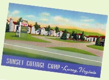 Vintage tourist court - Sunset Cottage Camp - Luray, Virginia